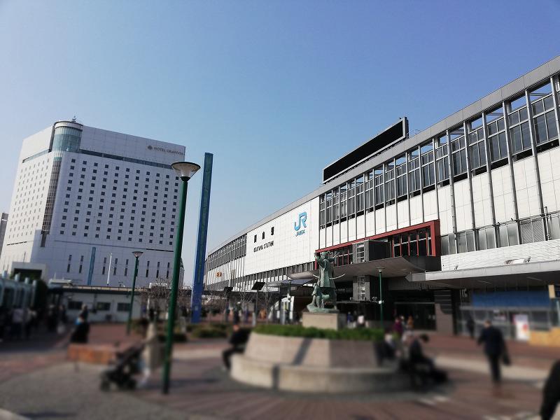 岡山市の浮気調査専門の探偵がJR岡山駅にいく
