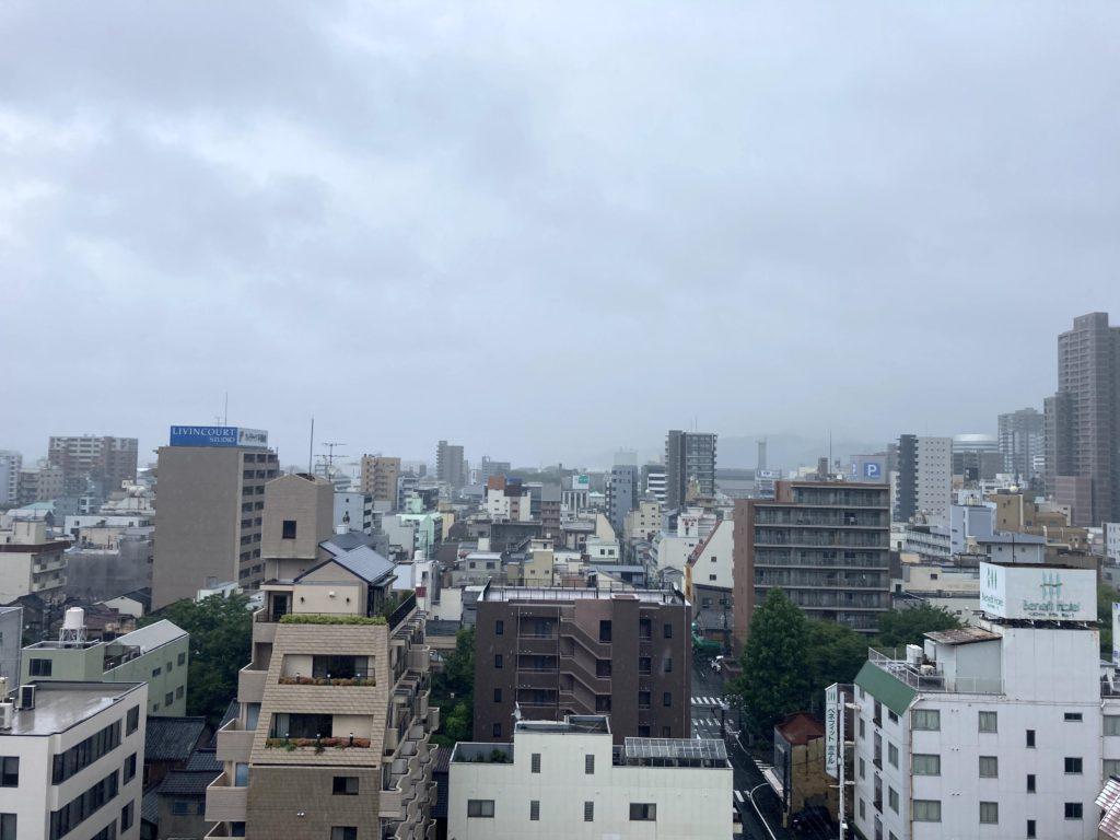 岡山の上空